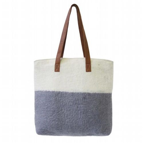 Felt Bag - Cream/Grey
